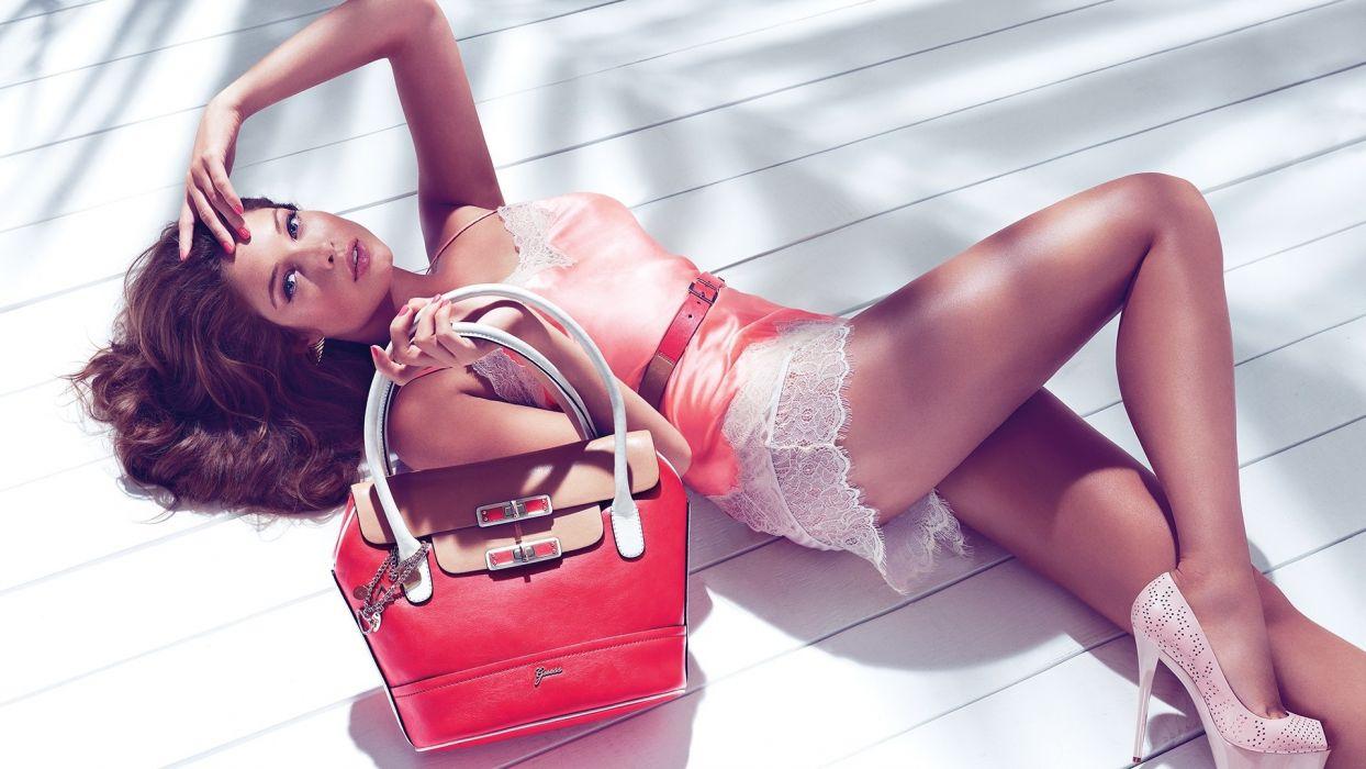 Sandrah Hellberg women females girls babes model style fashion sexy sensual legs brunette wallpaper