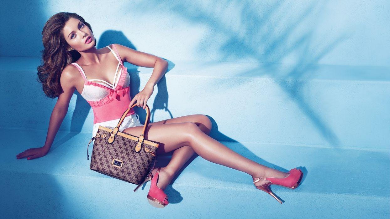 Sandrah Hellberg women females girls babes models style fashion brunette wallpaper