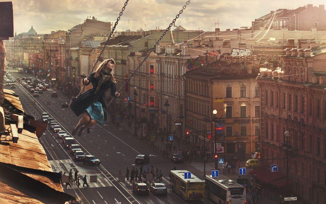 women females girls manipulation world cities roads architecture buildings mood emotion bokeh wallpaper