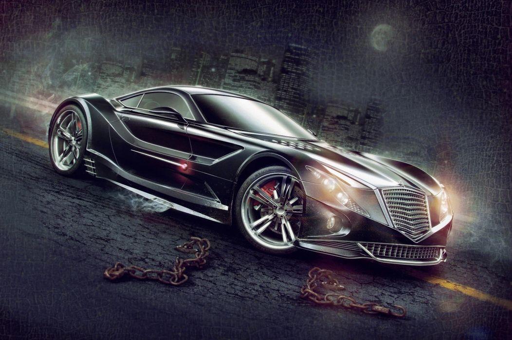 AleksCG vehicles cars exotic supercar concept custom wallpaper