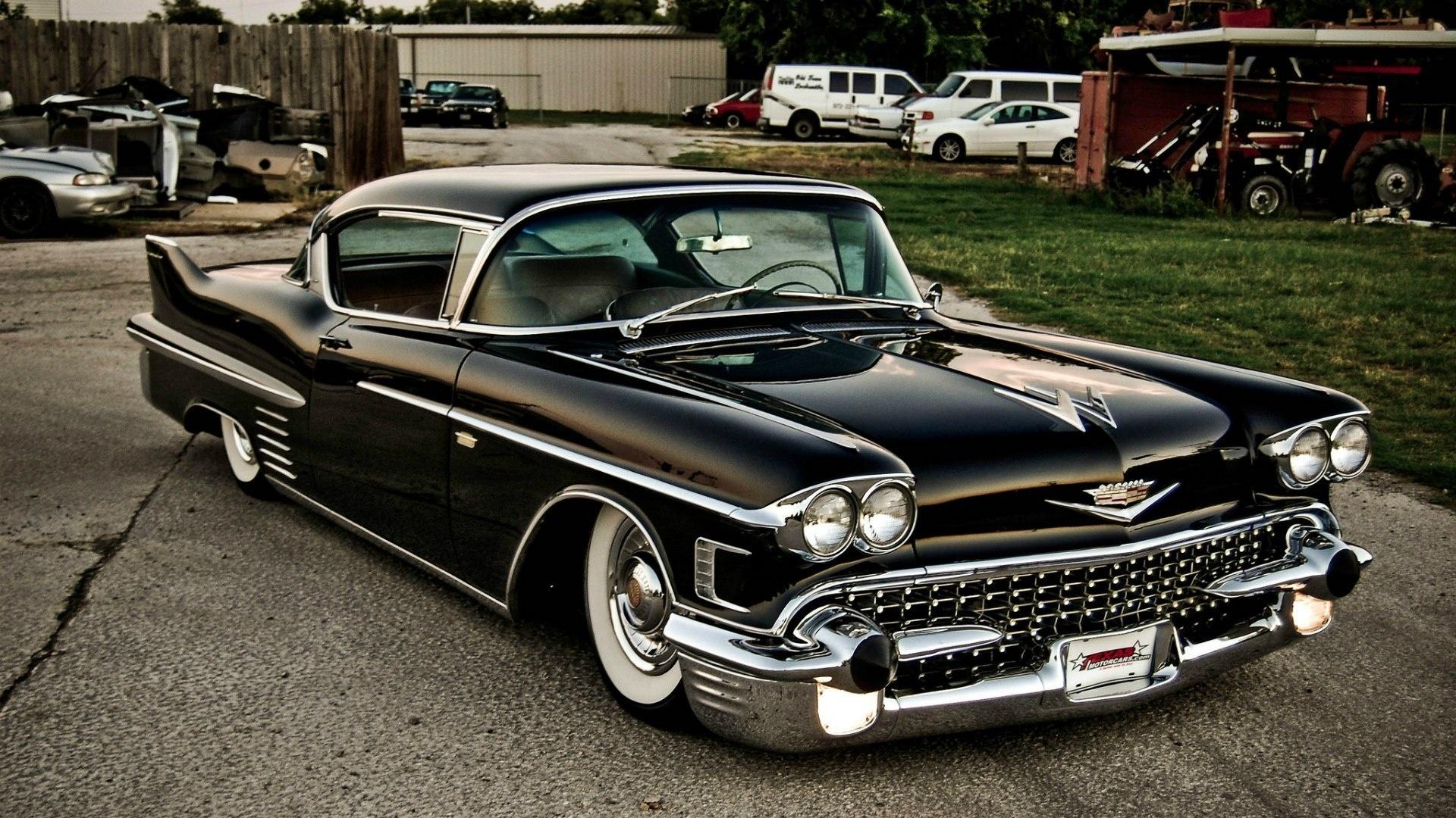 Cadillac Coupe De Ville Vehicles Cars Auto Retro Classic Low Stance Chrome  Black Roads Wallpaper | 1920x1080 | 27763 | WallpaperUP