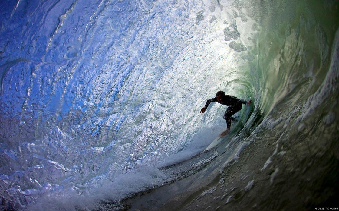 ocean sea waves people surf wallpaper