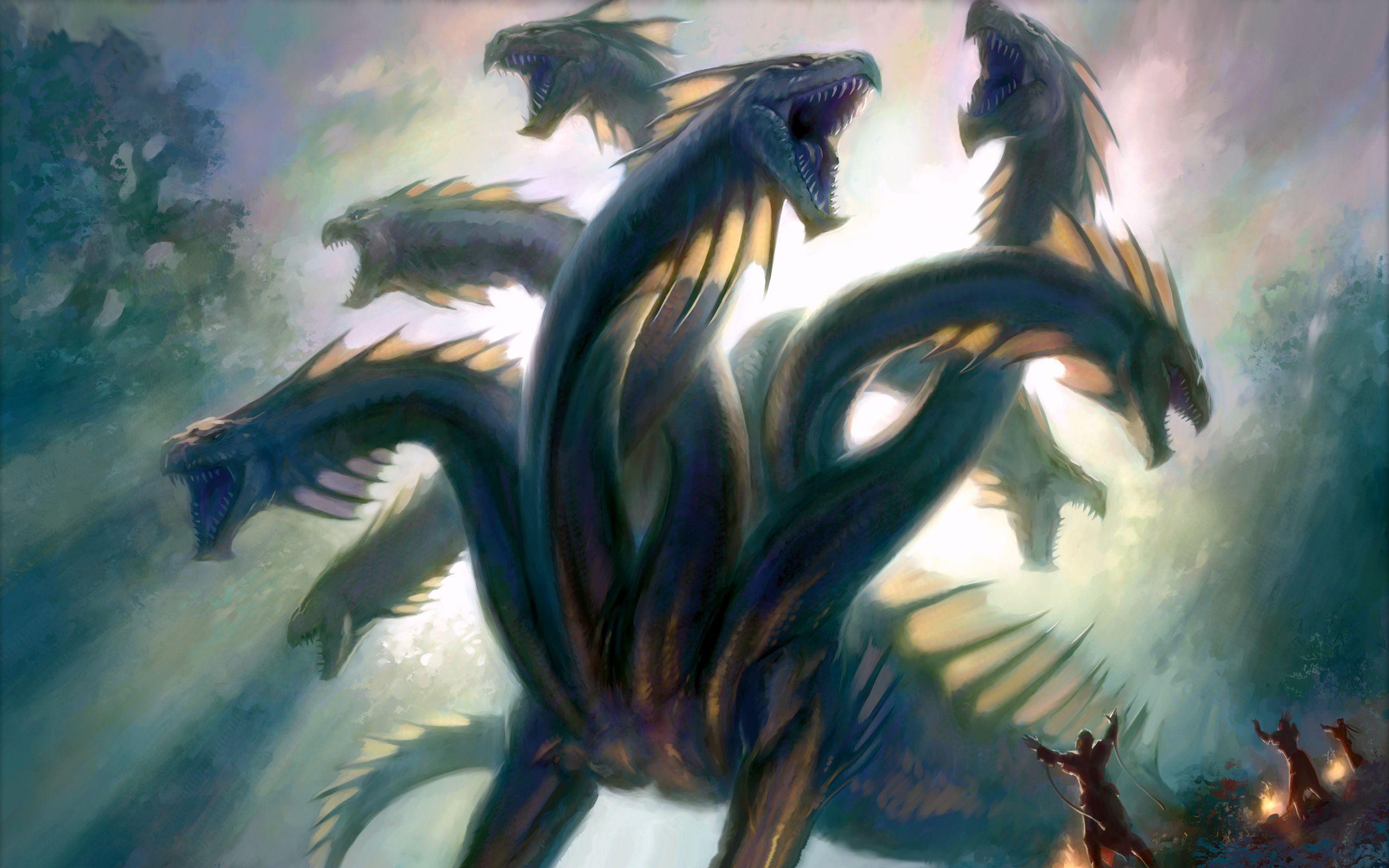 fantasy hydra dragon wallpaper 2560x1600 27930