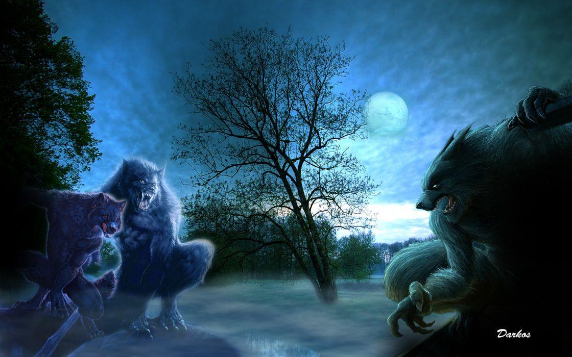 dark werewolf lycon horror wallpaper