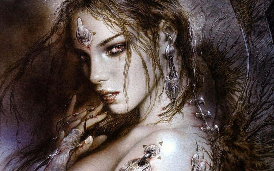 luis Royo fantasy women wallpaper