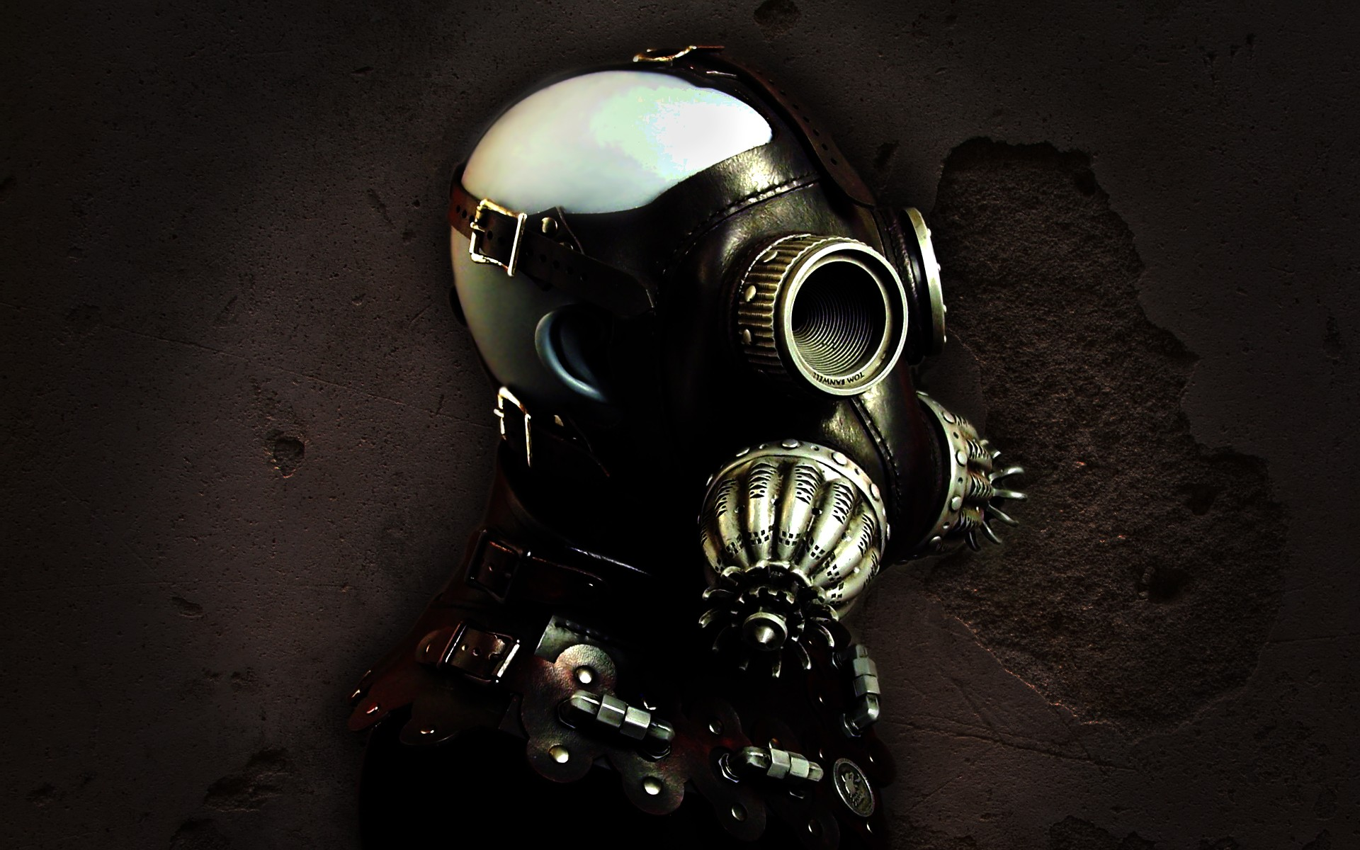 Sci fi dark gothic mask steampunk wallpaper | 1920x1200 ...