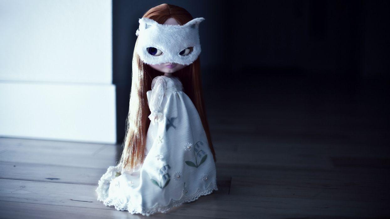 toy doll girl children cute gothic wallpaper