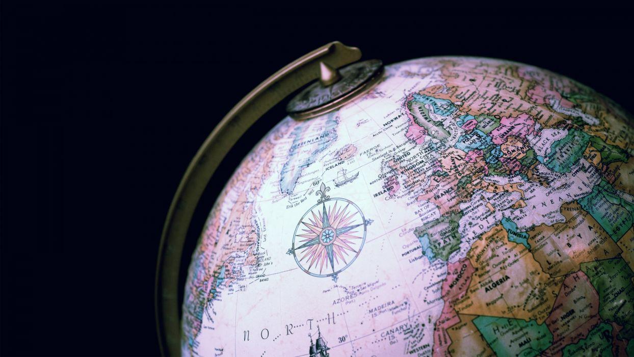 globe earth map sci fi wallpaper