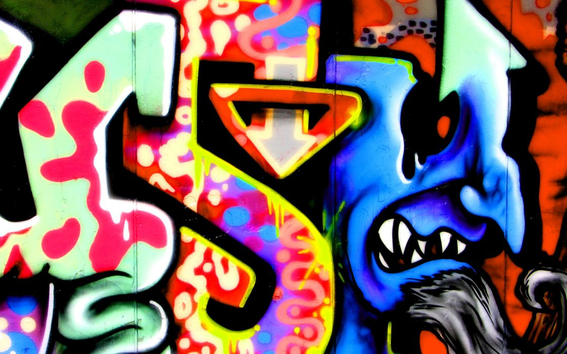 graffiti urban art color psychedelic wallpaper