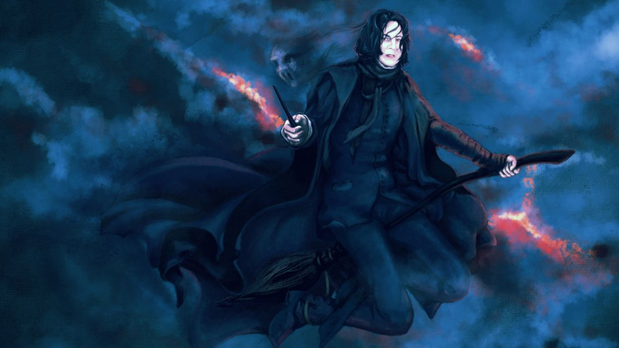 Severus Snape Harry Potter fantasy witch people men magic dark wallpaper