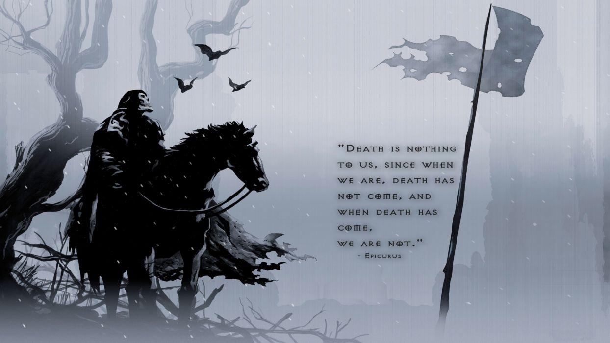 dark fantasy warrior grim reaper wallpaper