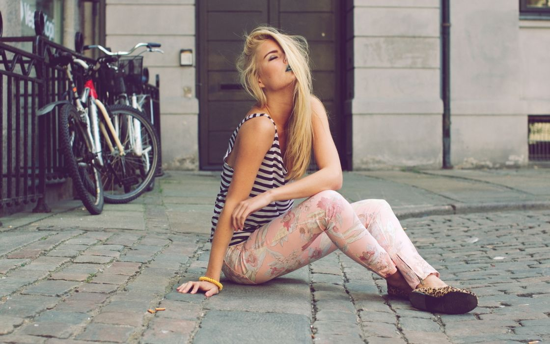women model blonde style fashion wallpaper