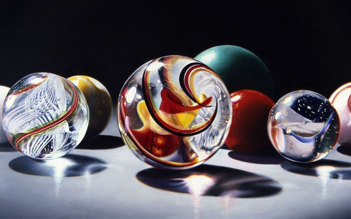 sphere glass marble bokeh color swirl reflection wallpaper