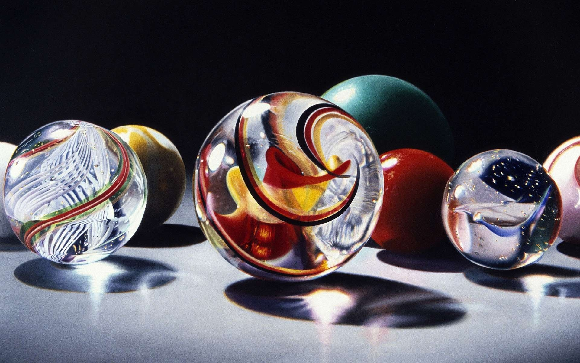 Sphere glass marble bokeh color swirl reflection wallpaper for 3d marble wallpaper
