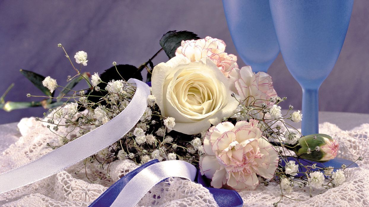 wedding bride flowers bouquet new year holiday wallpaper