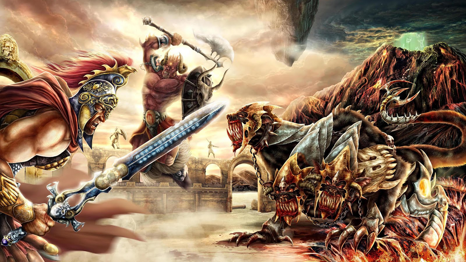 Fantasy Battle War Weapon Sword Axe Hydra Monster Creature