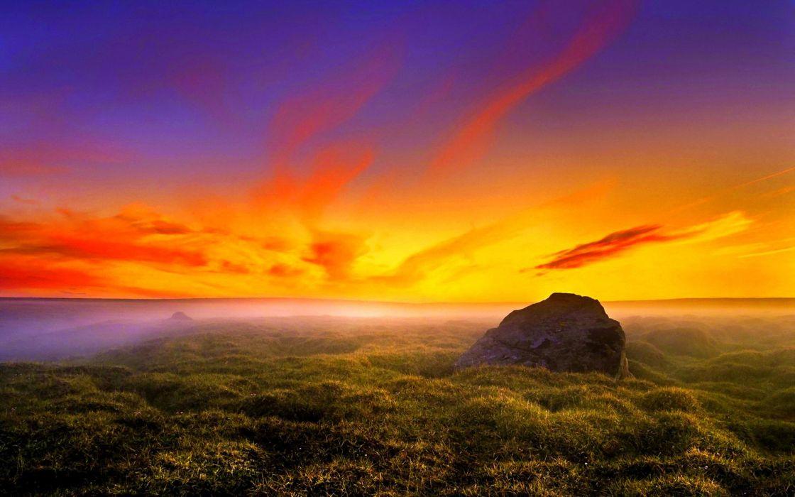 landscapes sunrise sunset color sky clouds wallpaper