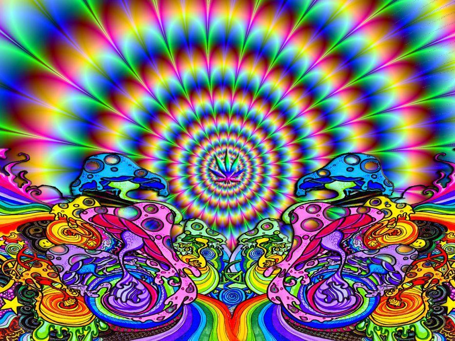 mind teaser psychedelic fractal color wallpaper