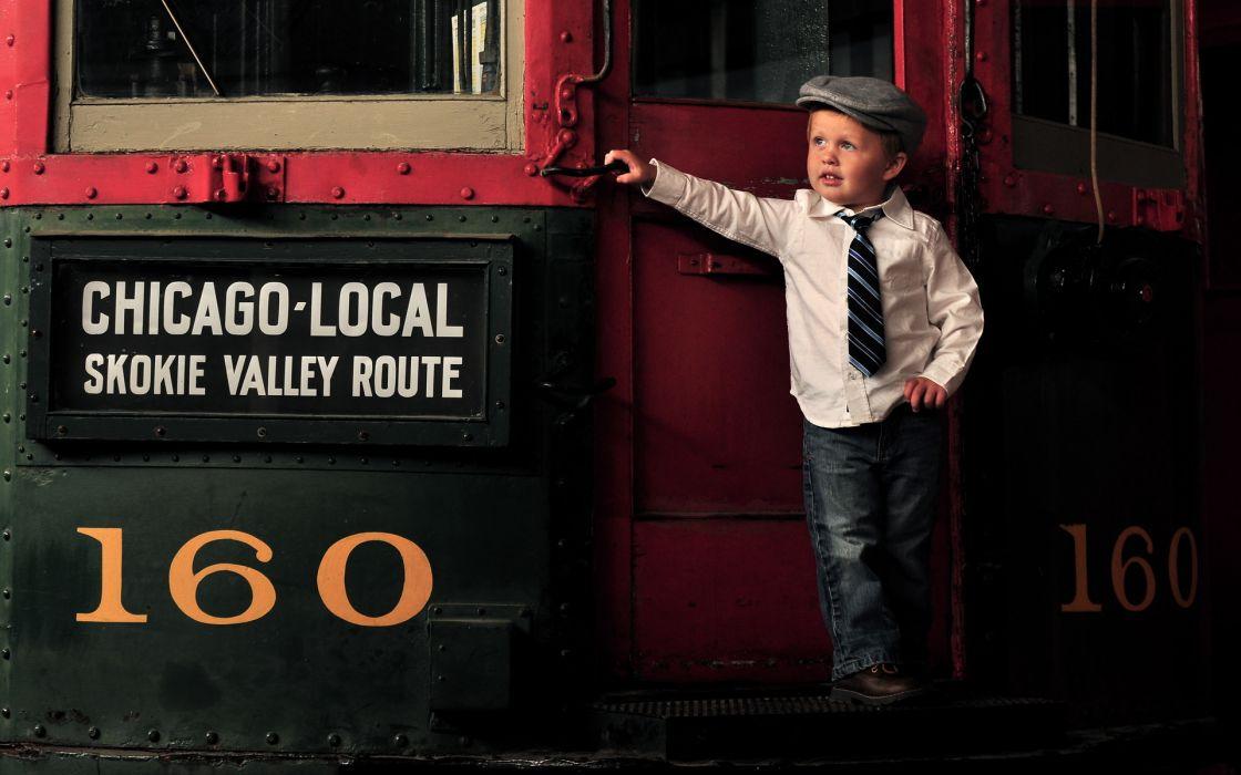 train retro children kids wallpaper