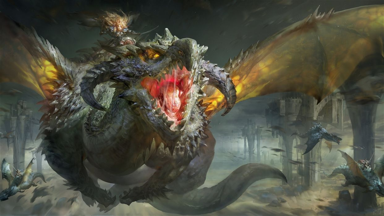 fantasy dragon art wallpaper