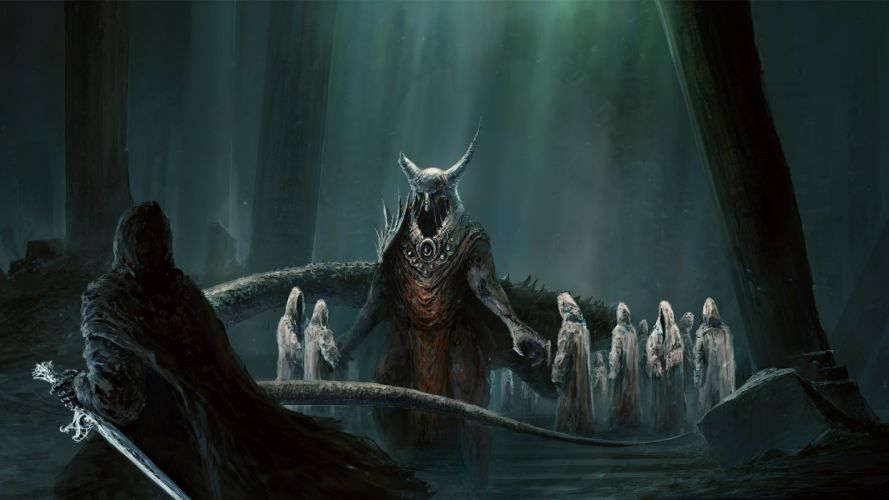 The Lord of the Rings lotr fantasy warrior weapon sword dark king ghost demons wallpaper