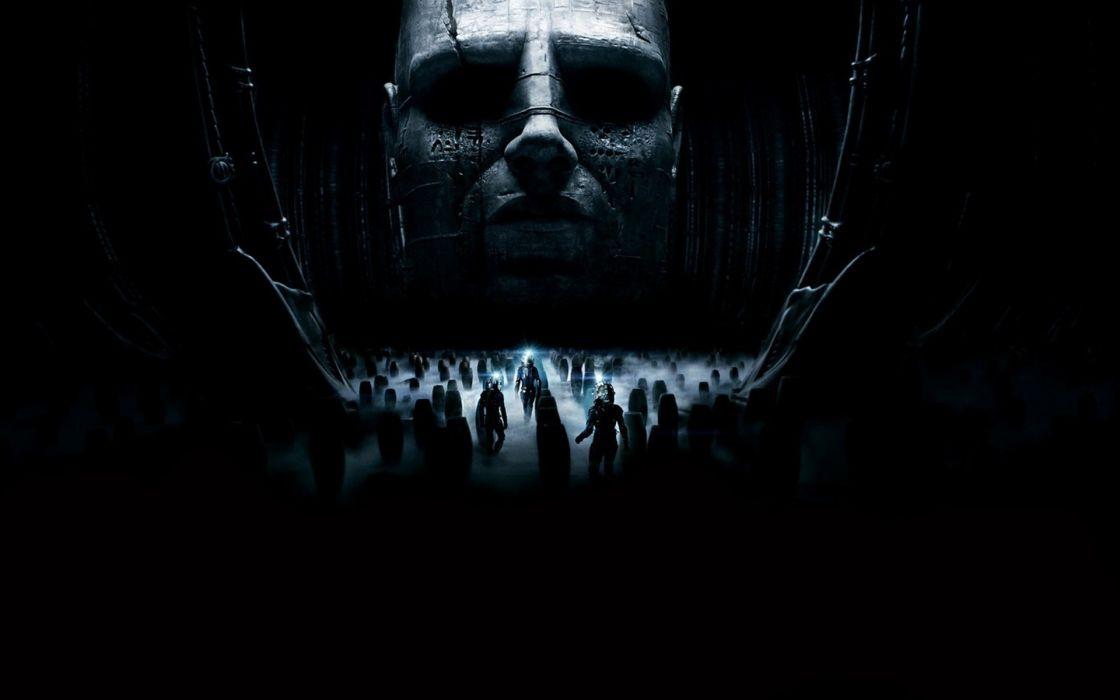 Prometheus sci fi science dark face spooky creepy people wallpaper