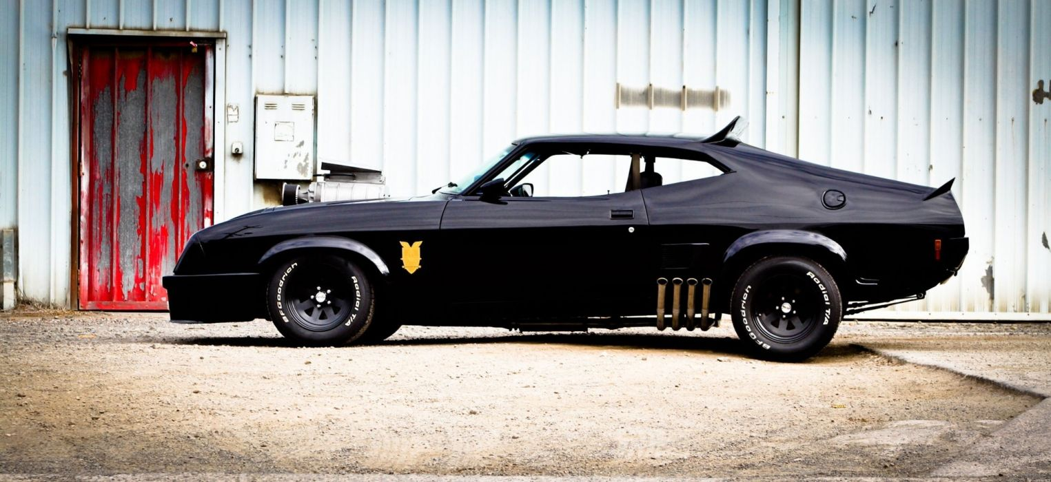 mad max interceptor ford falcon aussie muscle car ford australia vehicles cars hot rod custom muscle black stance wallpaper