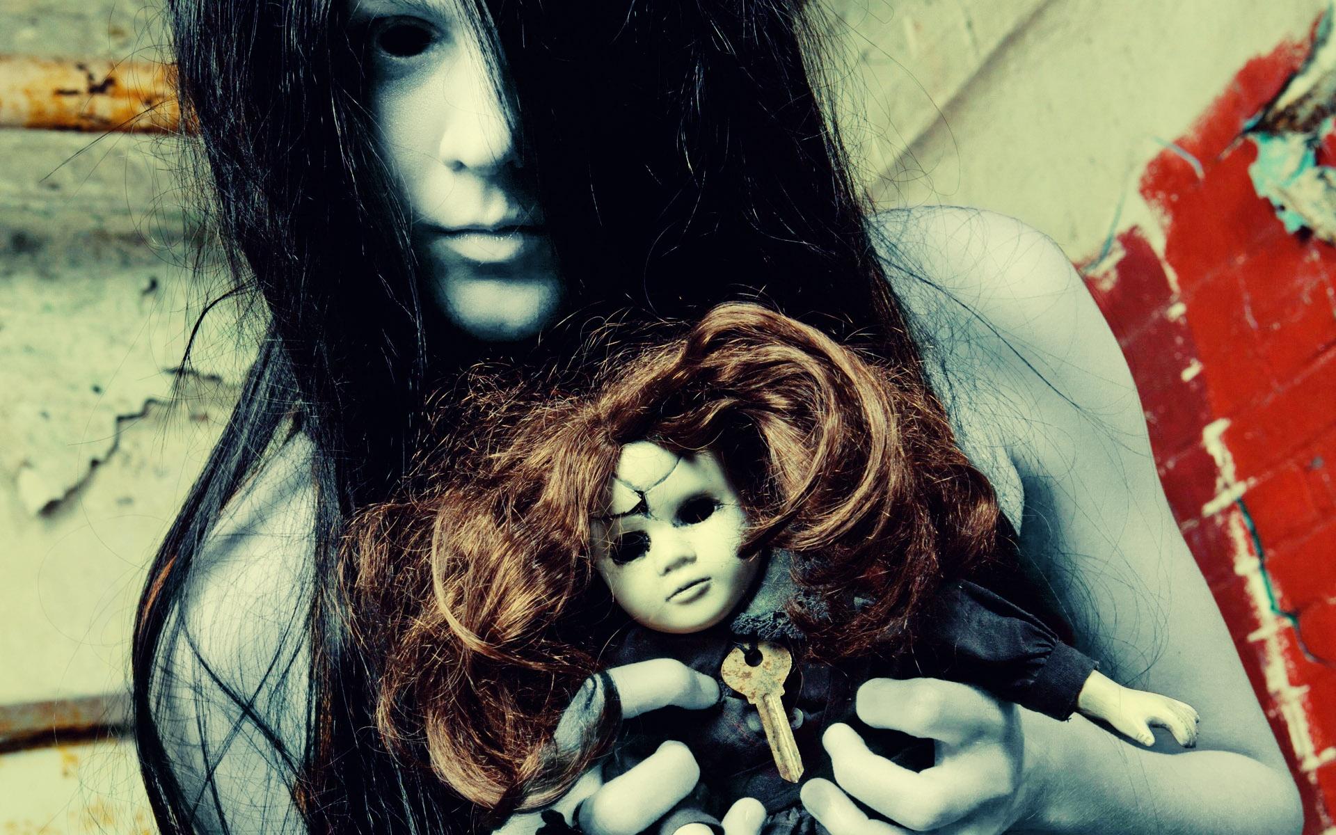 dark ghost horror scary creepy spooky halloween doll toys evil