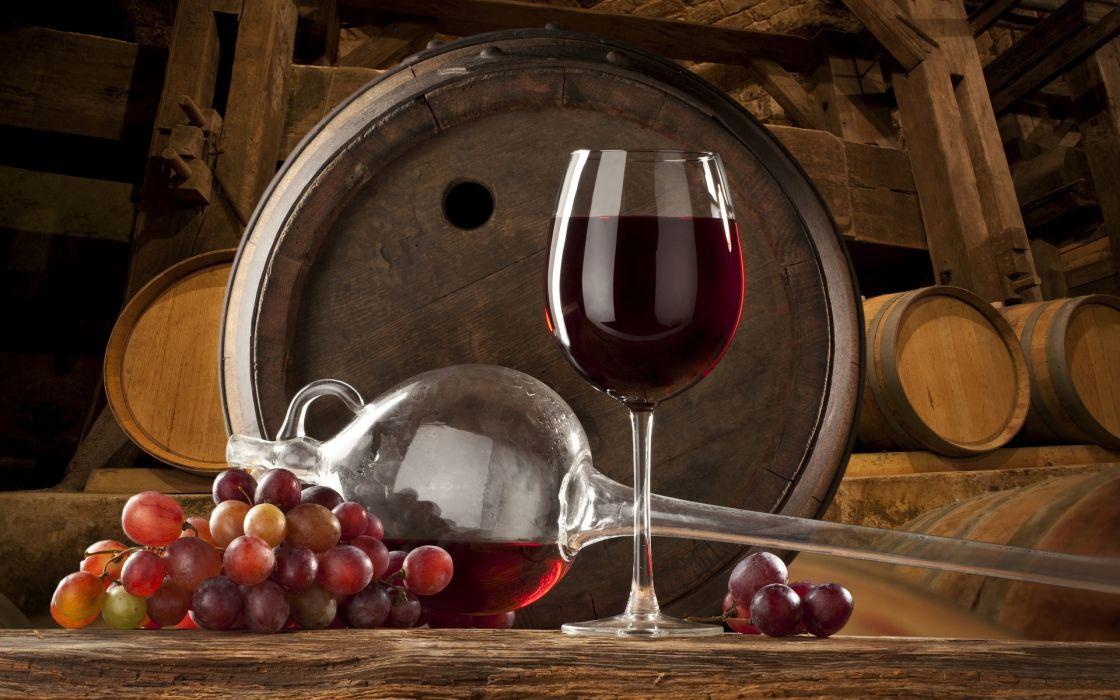 wine fruit grapes vineyard glass wallpaper