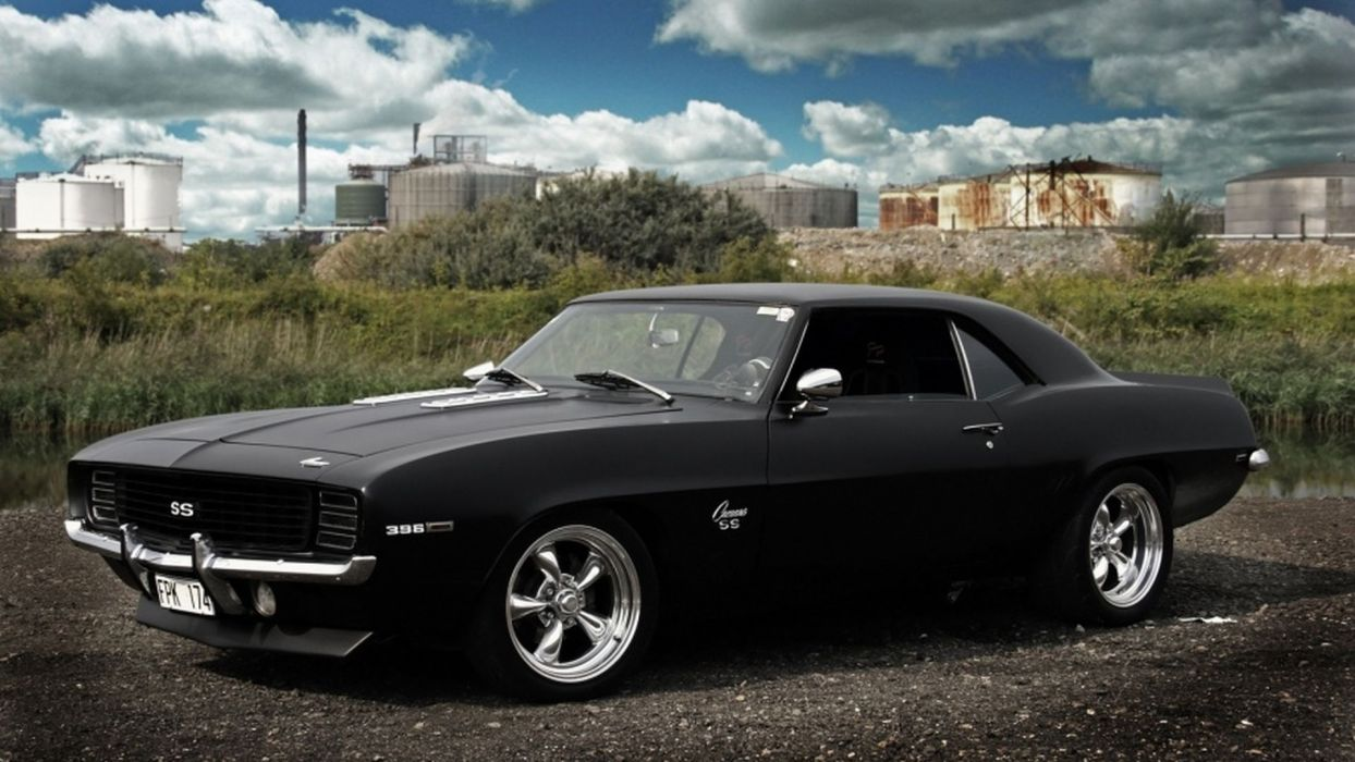 auto chevrolet camaro hot rod classic cars muscle black wallpaper