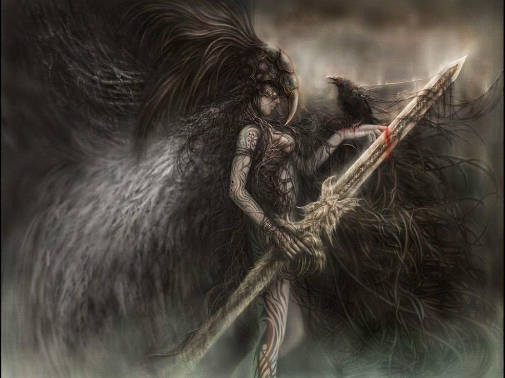 Фэнтези девушка с мечом