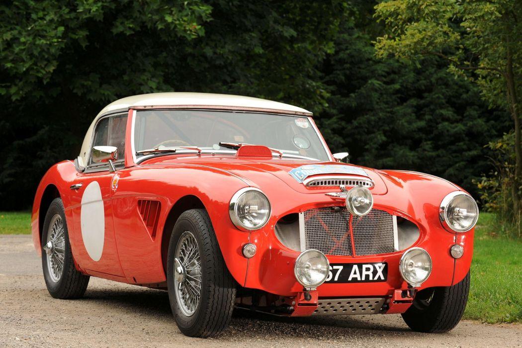 Austin Healey 3000 1962 racing race cars retro classic red wallpaper