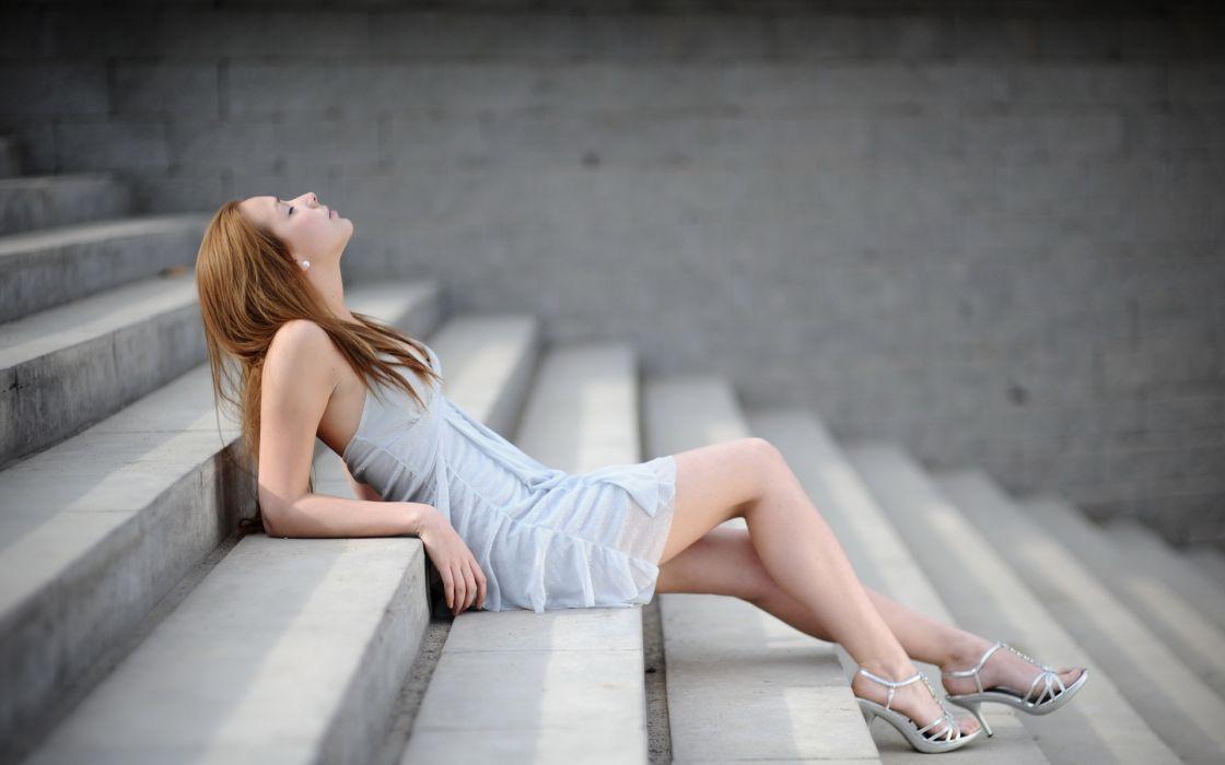 women model redhead wallpaper