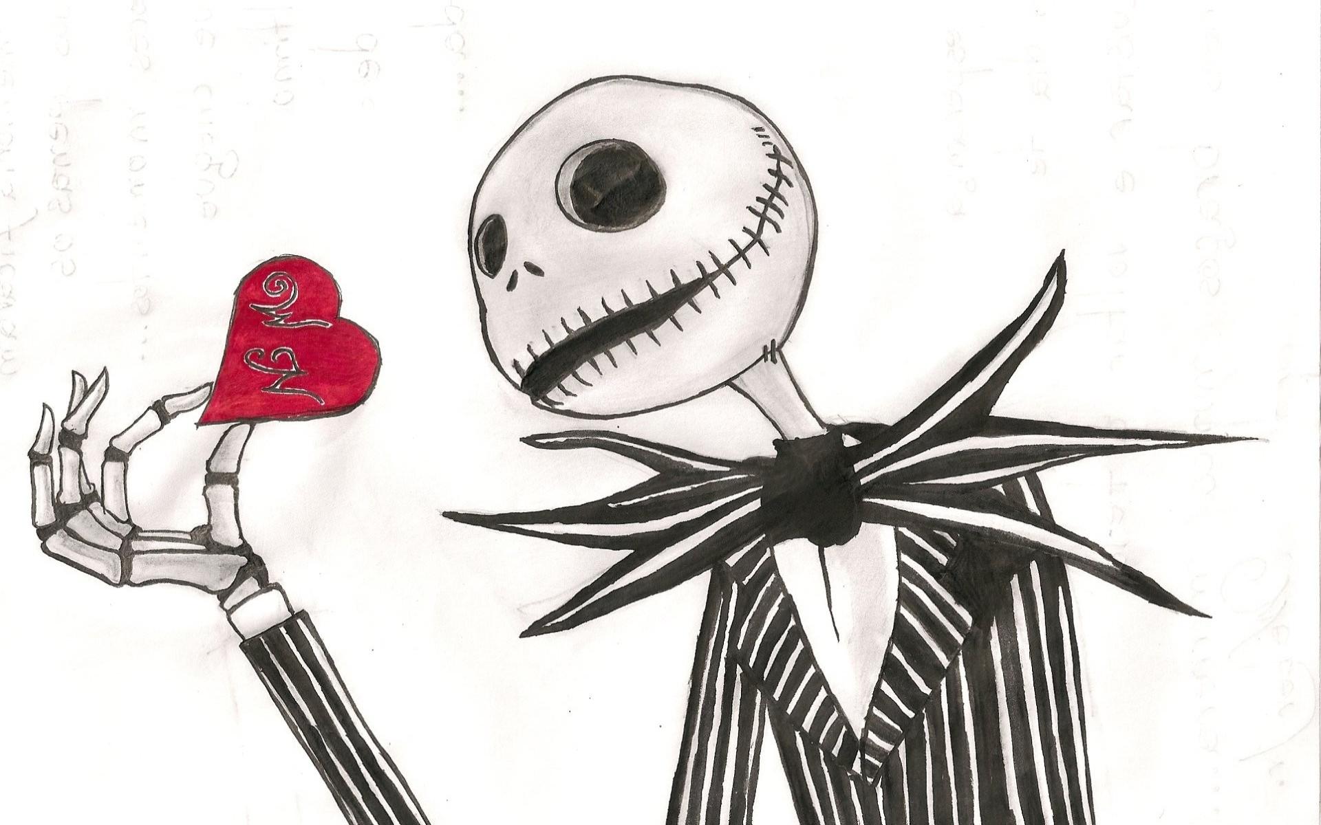 Jack Skellington The Nightmare Before Christmas Dark Skull