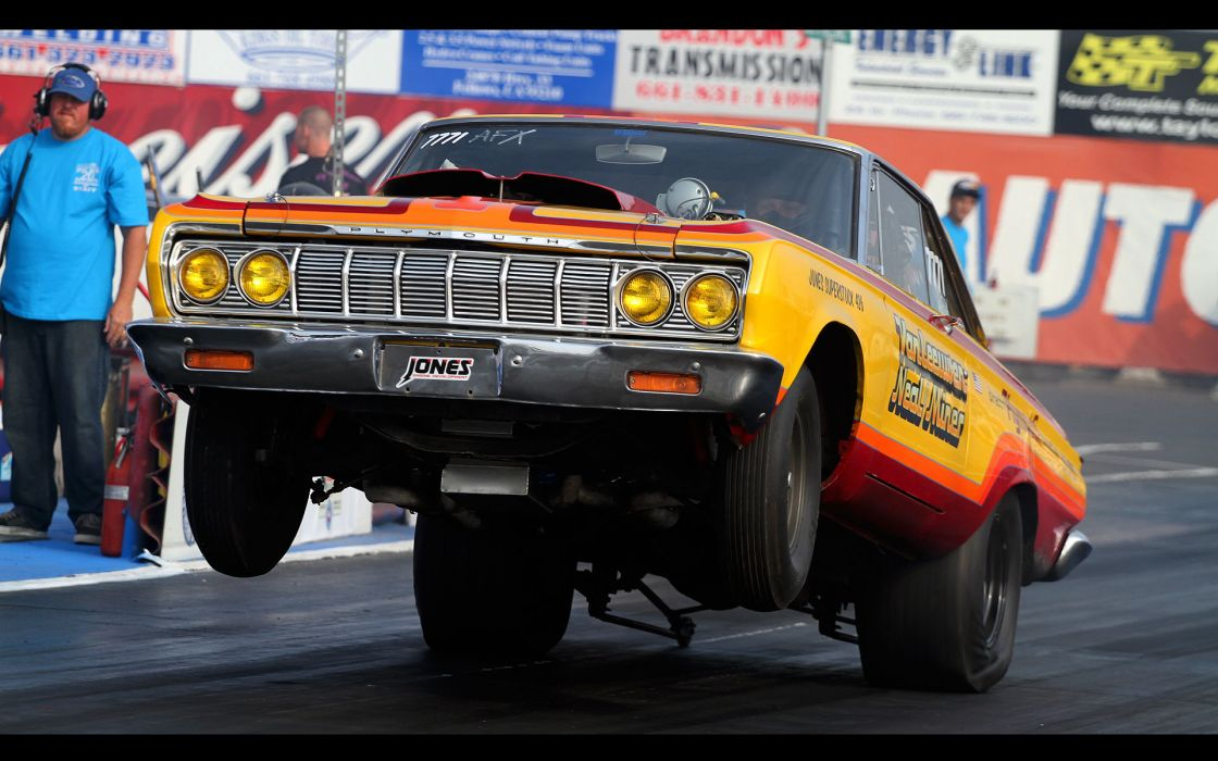 plymouth drag racing wheelie track nhra muscle cars hot rod classic retro wallpaper