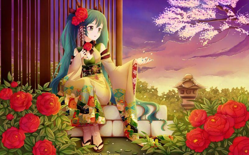 fantasy girl flowers wallpaper