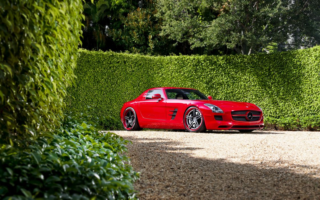 mercedes tuning red tuning supercar auto wallpaper
