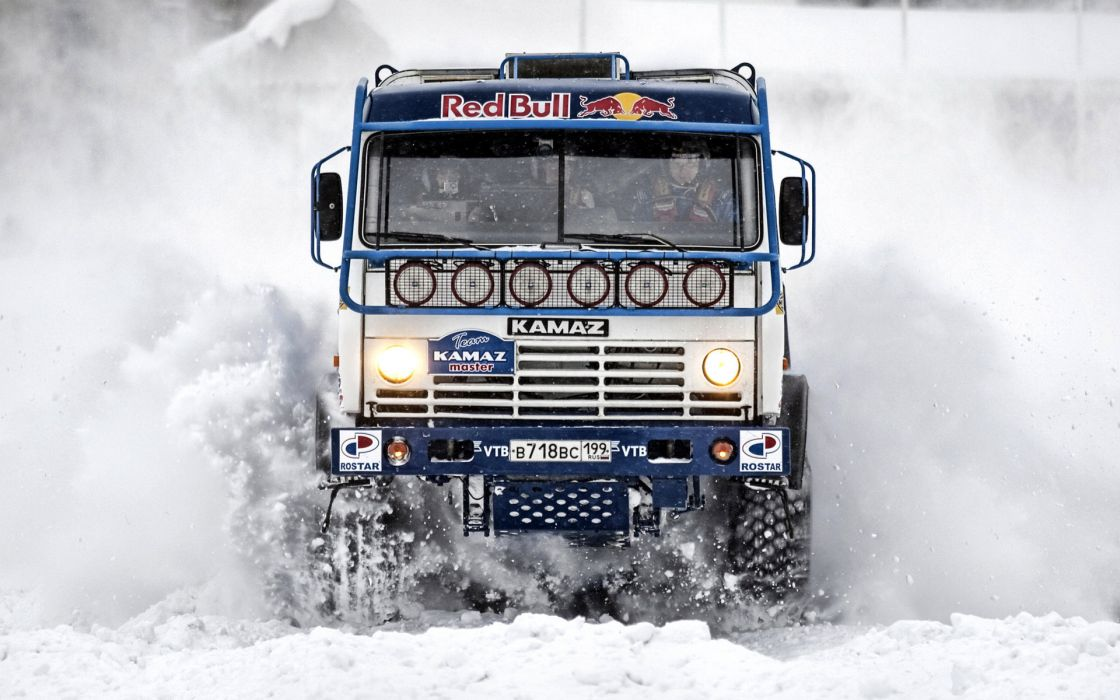 kamaz master winter snow racing wallpaper