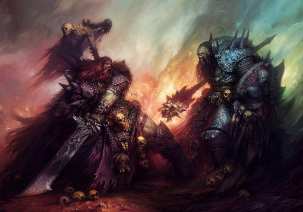 Pit of War Online fantasy warrior weapon battle wallpaper