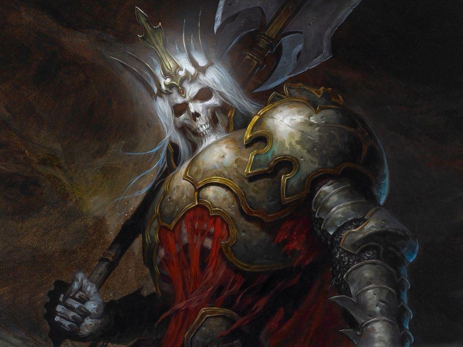 Skulls video games diablo artwork diablo iii skeleton king wallpaper