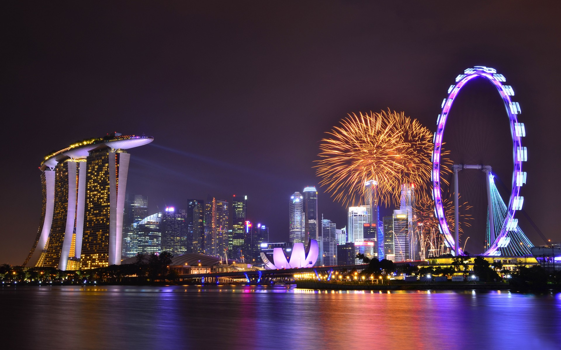 singapore fireworks wallpaper 1920x1200 28468 wallpaperup
