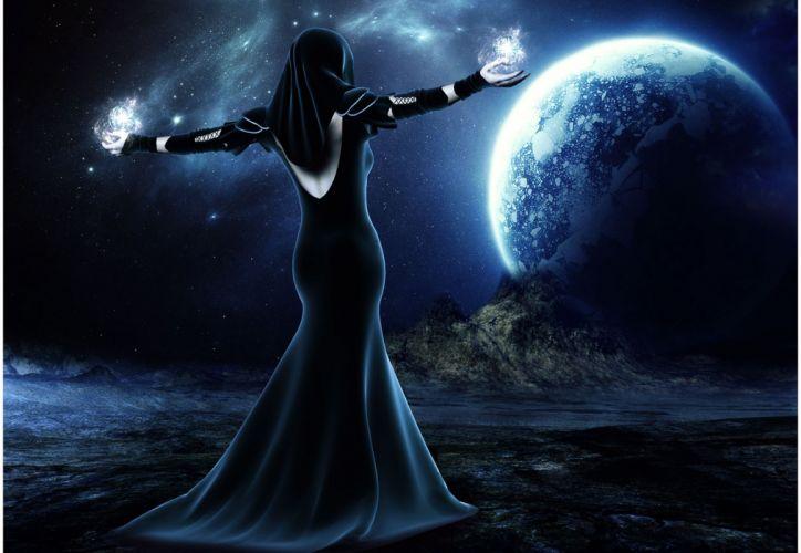 sci fi fantasy magic planets wallpaper