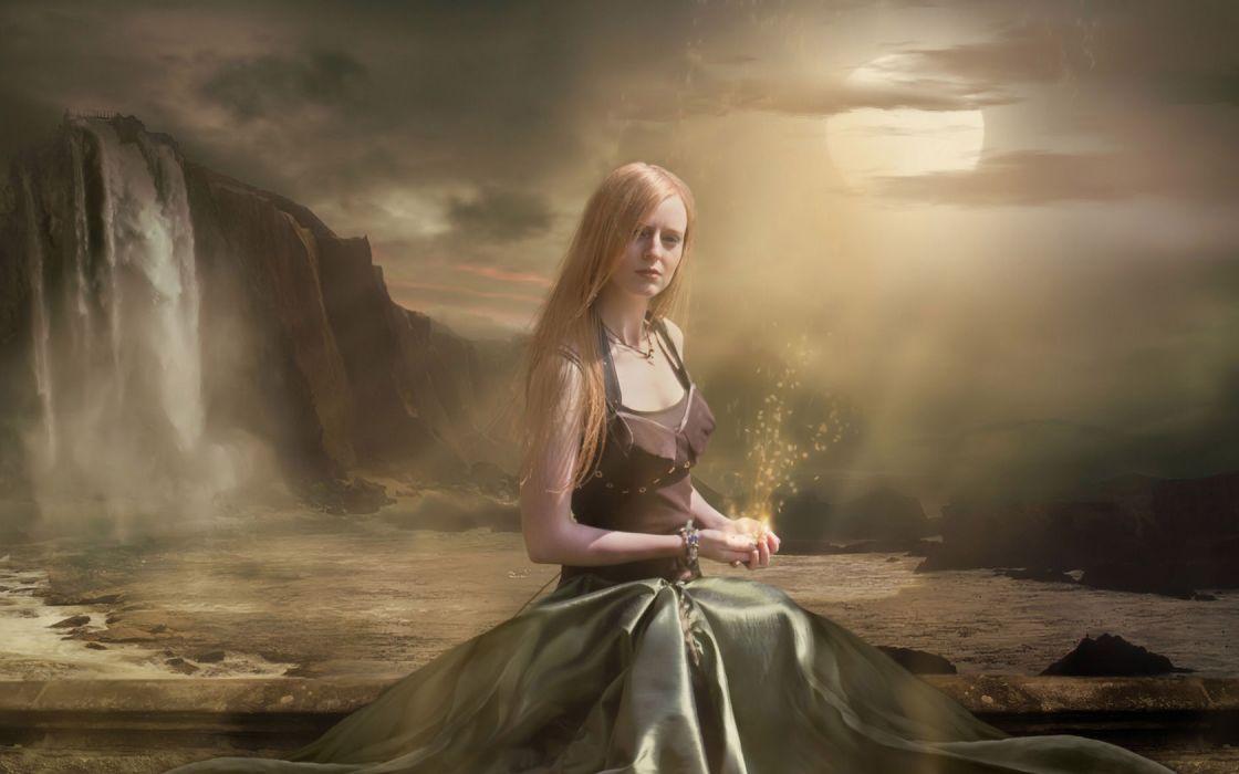 fantasy women gothic magic wallpaper