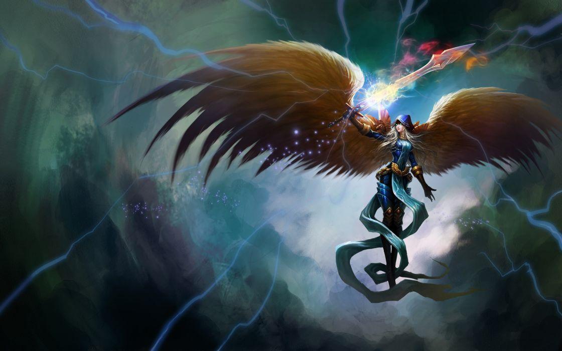 League Of Legends fantasy angel magic wallpaper