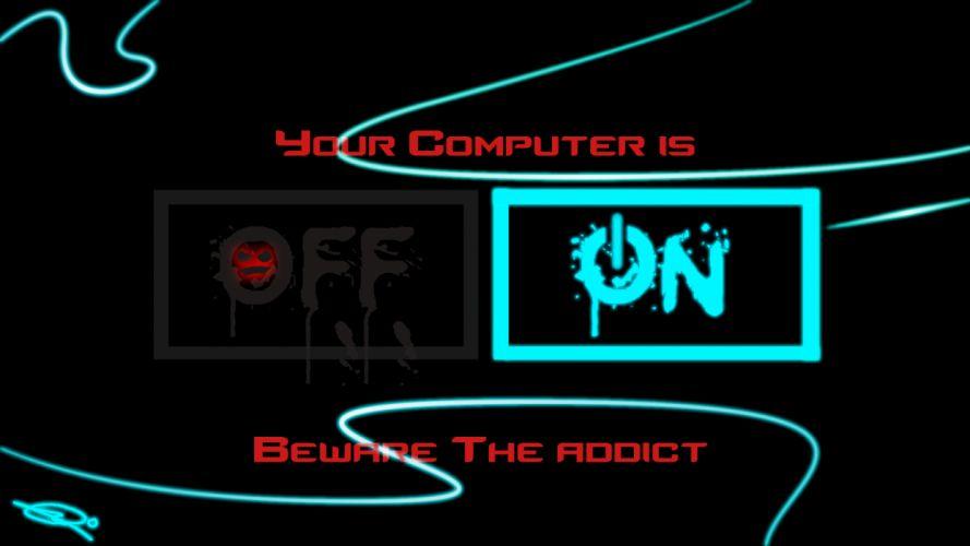 computer on sadic wallpaper