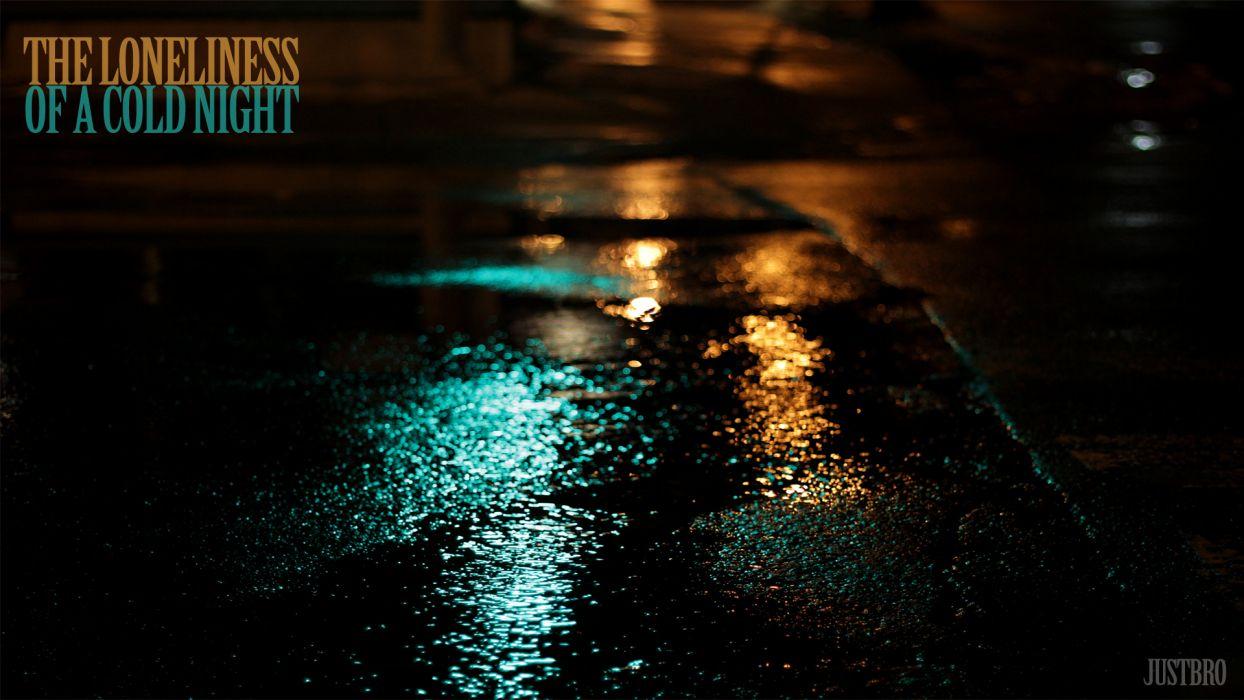 rain mood reflection wallpaper