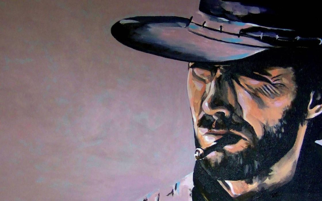 The Good Thebad and the Ugly clint eastwood art wallpaper