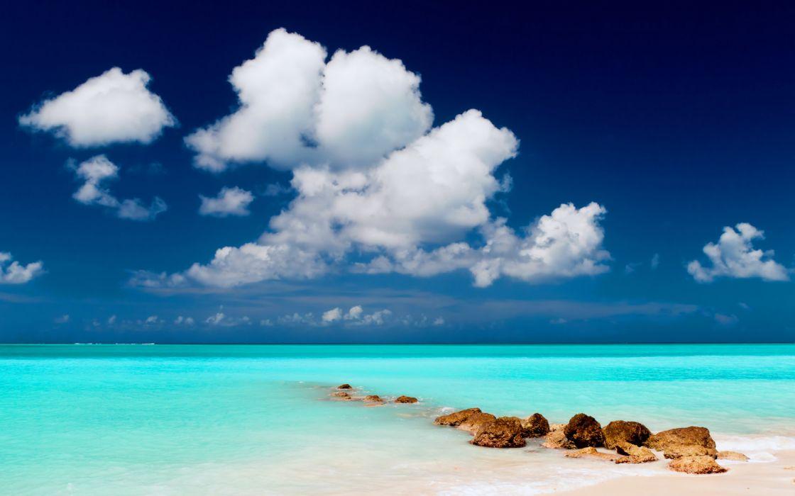 ocean sky clouds wallpaper