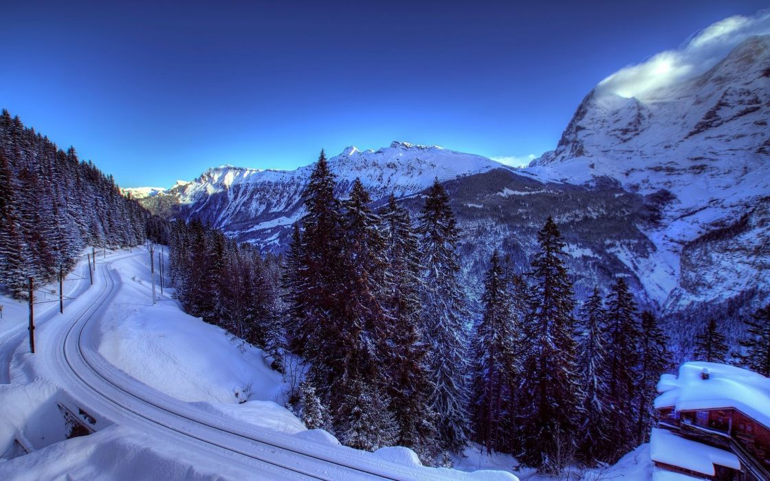 roads winter snow wallpaper