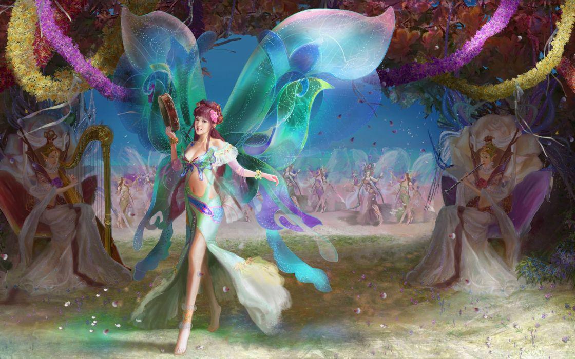 fantasy fairy magic art wallpaper